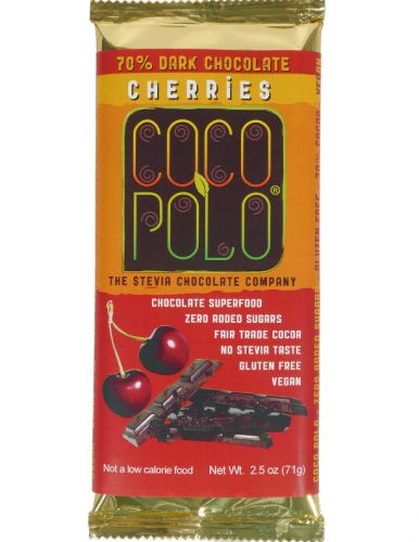 Coco Polo Cherries 70% Dark Chocolate