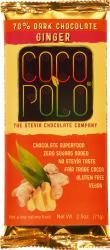 Coco Polo Ginger 70% Dark Chocolate