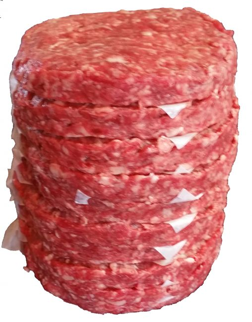 Ground Beef 10% Fat 1/4 LB Patties Economy Pack