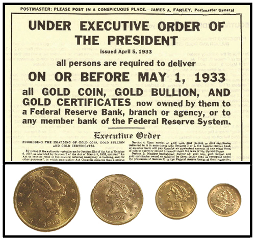 Executive Order Gold Outlawed