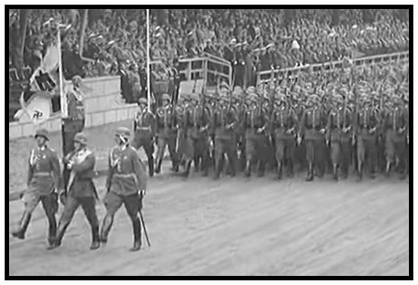 Goose Stepping Germans in 1939